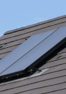 vlakke plaat zonnecollector plaatsen