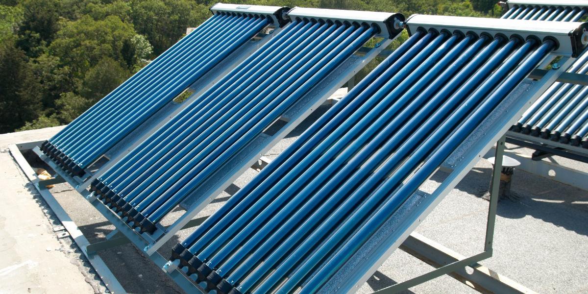 zonneboiler plat dak