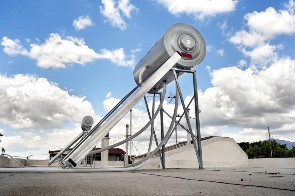zonnecollector plat dak